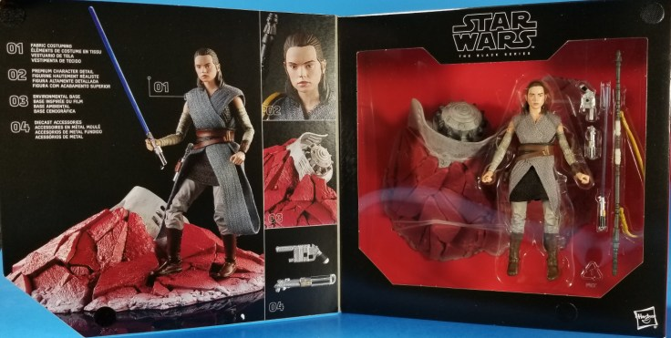 STAR WARS BLACK SERIES REY JEDI TRAINING TOYS R US EXCLUSIVE LOOSE COMPLETE